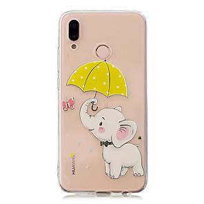 ieftine Stick Tripod Selfie-Maska Pentru Huawei Huawei P20 / Huawei P20 Pro / Huawei P20 lite Transparent / Model Capac Spate Elefant Moale TPU / P10 Lite
