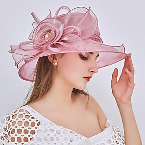 ieftine Bijuterii de Păr-Pentru femei Clop Floppy Dantelă Petrecere Nuntă - Mată Ștrasuri Bufantă Plasă Toate Sezoanele Roșu Vin Roz Îmbujorat