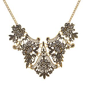 levne Módní náhrdelníky-Dámské Límeček Silný řetězec dámy Vintage Evropský Slitina Zlatá Stříbrná 45+8.5 cm Náhrdelníky Šperky 1ks Pro Večerní oslava