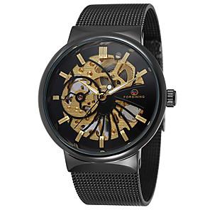 ieftine Ceasuri Bărbați-Bărbați Ceas Elegant Ceas Schelet ceas mecanic Mecanism automat Oțel inoxidabil Auriu 30 m Cronograf Creative Analog Lux Clasic Modă - Negru / Alb Negru / Argintiu Alb / Auriu