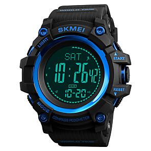 ieftine Ceasuri Digitale-SKMEI Bărbați Ceas Sport Ceas Militar  Ceas digital Piloane de Menținut Carnea Casual Rezistent la Apă Piloane de Menținut Carnea Negru Rosu Albastru / Un an / Piele PU Matlasată / Japoneză / Alarmă