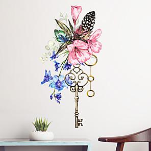 hesapli Dekorasyon Etiketleri-Çiçek / Botanik Duvar Etiketler Uçak Duvar Çıkartmaları Dekoratif Duvar Çıkartmaları, Vinil Ev dekorasyonu Duvar Çıkartması Duvar / Pencere Dekorasyon 1pc / Tekrar Pozisyon