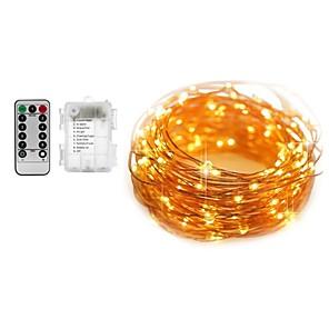 ieftine Ustensile & Gadget-uri de Copt-5m seturi de lumini șir de lumini 50 led-uri calde albe albe de culoare schimbătoare de apă impermeabile baterii decorative powered 1set