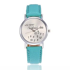 ieftine Ceasuri Damă-Pentru femei Ceas de Mână Quartz Piele Negru / Alb / Roșu Se răcește cuvânt / expresie Ceas Casual Analog femei Modă - Rosu Roz Verde Deschis