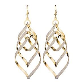 povoljno Naušnice-Žene Viseće naušnice Long dame Europska pomodan Naušnice Jewelry Crn / Zlato / Srebro Za Maškare Praznik 1 par
