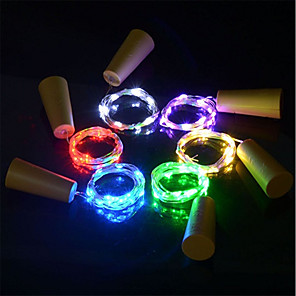 cheap Apple-6pcs 15-LED 0.75M Copper Wire String Light with Bottle Stopper for Glass Craft Bottle Fairy Valentines Wedding Decoration Lamp Party