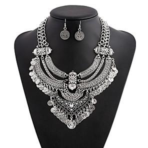 ieftine Seturi de Bijuterii-Pentru femei Cercei Rotunzi Coliere MOON femei Modă Elegant Supradimensionat egiptean cercei Bijuterii Auriu / Argintiu Pentru Carnaval Bal Concediu