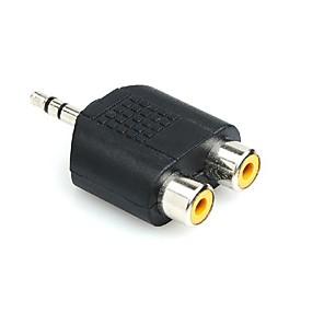 ieftine Audio & Video-masculin rca pentru femeie jack y adaptor dublu RCA splitter audio