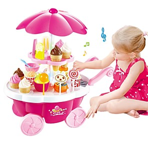 cheap HTC Screen Protectors-Toy Kitchen Set Pretend Play Ice Cream Sweet Candy Shop Plastic Shell Preschool Toy Gift 39 pcs