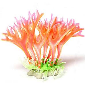 cheap Modules-Fish Tank Aquarium Decoration Waterproof Ornament Coral Jellyfish Pink Waterproof washable Plastics 1 19*10 cm