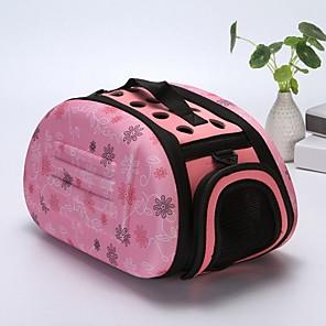 ieftine Câini Gulere, hamuri și Curelușe-Câini Iepuri Pisici Cuști Portbagaje & rucsacuri de călătorie Umăr Bag Portabil Mini Camping & Drumeții Animale de Companie  Plastic Geometric lolita Modă Negru Roz Bej