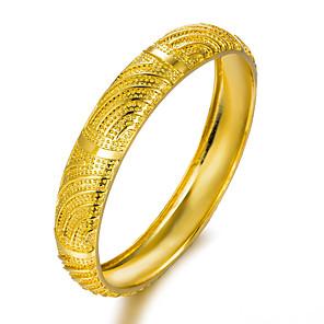 ieftine Colier la Modă-Pentru femei Brățări Bangle De-a curmezișul femei Placat Auriu Bijuterii brățară Auriu Pentru Petrecere
