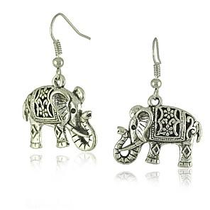 ieftine Cercei-Pentru femei Cercei Picătură #D Elefant femei Stilat Clasic cercei Bijuterii Argintiu Pentru Zilnic 1 Pair