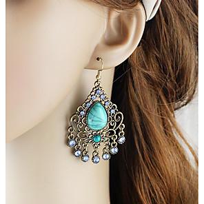 ieftine Cercei-Pentru femei Cercei Picătură Lung Pară femei Asiatic De Bază Modă cercei Bijuterii Verde / Albastru Pentru Zilnic Dată 1 Pair