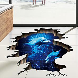 voordelige Wanddecoratie-Landschap / 3D Muurstickers 3D Muurstickers Vloerstickers, Vinyl Huisdecoratie Muursticker Wand / Verdieping Decoratie 1pc / Verstelbaar