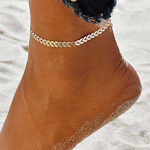 ieftine Bijuterii de Corp-Brățară Gleznă gleznă brățară femei Design Unic Boem Pentru femei Bijuterii de corp Pentru Concediu Ieșire Yoga Aliaj Val Auriu Argintiu 1 buc