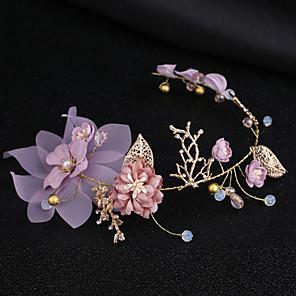 ieftine Bijuterii de Păr-Pentru femei Cordeluțe Pentru Petrecere Ceremonie În Cruce Cristal Material Textil Aliaj Mov