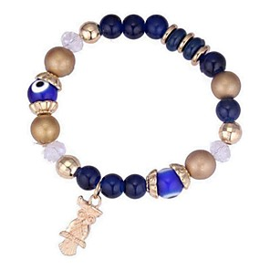 billige Dameure-Dame Perleambånd Perler Ugle Damer Vintage Etnisk Mode Akryl Armbånd Smykker Sort / Rød / Blå Til Fest Ceremoni