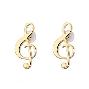 ieftine Brățări-Pentru femei Cercei Funie Muzică Notă Muzicală femei Cute Stil Franceză Țigan cercei Bijuterii Auriu / Argintiu Pentru Școală Antrenament 1 Pair