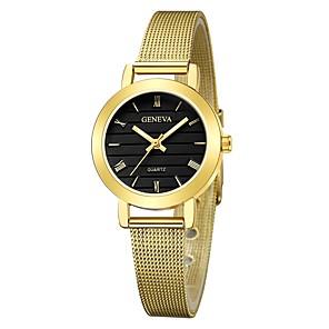 ieftine Lumini de Bicicletă-Geneva Pentru femei Ceas de Mână ceas de aur Quartz Negru / Argint / Auriu Model nou Ceas Casual Cool Analog femei Casual Modă - Negru și Auriu Argintiu / alb Negru / Argintiu Un an Durată de Via