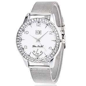 ieftine Ceasuri Damă-Pentru femei Ceas de Mână Diamond Watch Quartz Oțel inoxidabil Argint Cronograf Ceas Casual imitație de diamant Analog femei Atârnat Elegant - Argintiu Un an Durată de Viaţă Baterie / Mare Dial