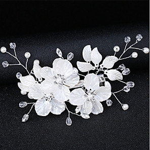 ieftine Bijuterii de Păr-Pentru femei Pentru Dată Costume Cosplay Festival Floare În Cruce Zirconiu Cubic Material Textil Aliaj Alb