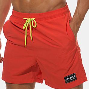 ieftine Coliere-Bărbați Stiluri de Plajă / Tropical Mărime Plus Size Zilnic Plajă Pantaloni Chinos / Pantaloni Scurți Pantaloni - Mată / Scrisă Brodat / Imprimeu Vară Portocaliu Galben Verde Deschis XXL XXXL XXXXL