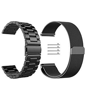 Недорогие Часы для Samsung-Ремешок для часов для Gear S3 Frontier / Gear S3 Classic Samsung Galaxy Миланский ремешок Нержавеющая сталь Повязка на запястье