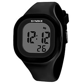 ieftine Ceasuri Digitale-SYNOKE Bărbați Pentru femei Ceas Sport Ceas digital Piloane de Menținut Carnea Modă Rezistent la Apă Piloane de Menținut Carnea Alb Negru Galben / Silicon / Calendar / Cronograf / Cronometru