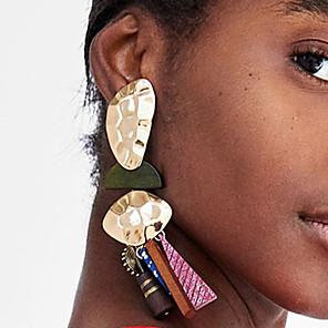 저렴한 돋보기-여성용 드랍 귀걸이 불일치 할로우 스파이크 숙녀 단순한 유럽의 유행의 탕탕 치기 레진 귀걸이 보석류 브라운 / 레드 / 블루 제품 거리 전문가용 1 쌍