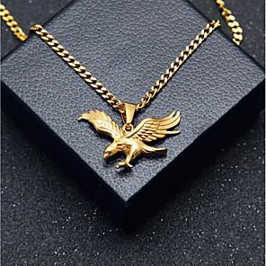 ieftine Cabluri & Adaptoare-Bărbați Coliere cu Pandativ Lănțișoare Stl Link cubanez Vultur Stilat European Hip-Hop inox Auriu 60 cm Coliere Bijuterii 1 buc Pentru Cadou Stradă