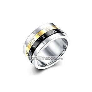 ieftine Ceasuri Bărbați-Bărbați Band Ring 1 buc Argintiu Oțel titan Circle Shape Vintage Punk Zilnic Muncă Bijuterii #D Cool