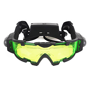 ราคาถูก กล้องส่องทางไกล-Night Vision Goggles เลนส์ Waterproof สามารถปรับได้ LED ปกยางรีไซเคิล แคมป์ปิ้ง & การปีนเขา การล่าสัตว์ Shooting พลาสติก Metal / มุมมองกลางคืน
