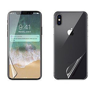 """cheap MacBook Air 13"""" cases-Screen Protector for Apple iPhone X PET 2 pcs Front & Back Protector High Definition (HD) / Scratch Proof / Anti-Fingerprint"""