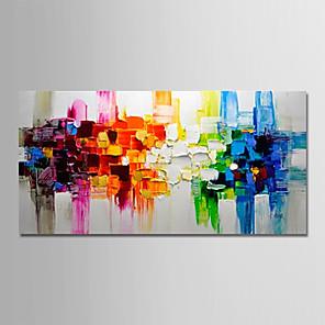 povoljno Bojano-Hang oslikana uljanim bojama Ručno oslikana - Sažetak Pejzaž Moderna Bez unutrašnje Frame / Valjani platno
