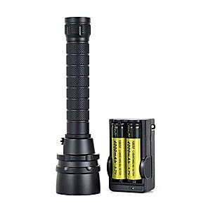 ieftine lanterne-Lanterne LED Rezistent la apă 7000 lm LED LED emițători 1 Mod Zbor Rezistent la apă Portabil Profesional Anti-Şoc Camping / Cățărare / Speologie Scufundare / Canotaj Ciclism