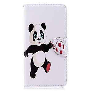ieftine Câini Gulere, hamuri și Curelușe-Maska Pentru Huawei Huawei P20 / Huawei P20 Pro / Huawei P20 lite Portofel / Titluar Card / Cu Stand Carcasă Telefon Panda Greu PU piele / P10 Lite