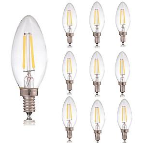 ieftine Îngrijire Unghii-10pcs 2 W Bec Filet LED 180 lm E14 C35 2 LED-uri de margele COB Decorativ Alb Cald Alb Rece 220-240 V / RoHs