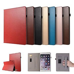 abordables Pochettes / Coques d'iPad-Coque Pour Apple iPad Pro 12.9'' Porte Carte / Avec Support / Magnétique Coque Intégrale Couleur Pleine Dur faux cuir