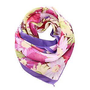 ieftine Produse Fard-Pentru femei Floral Funde Nuntă, Șifon - Eșarfe Pătrate / Toate Sezoanele