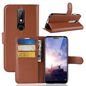ieftine Carcase / Huse de Nokia-Maska Pentru Nokia Nokia 8 / 8 Sirocco / Nokia 7 Portofel / Titluar Card / Întoarce Carcasă Telefon Mată Greu PU piele / Nokia 6