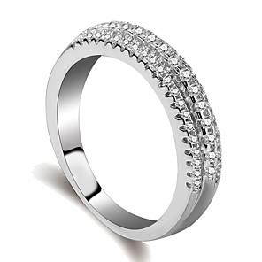 ieftine Cercei-Pentru femei Inel Eternity Ring Micro inel de pavele 1 buc Argintiu Alamă Placat cu platină Diamante Artificiale femei La modă Modă Zilnic Oficial Bijuterii Stl Αστέρι Cool