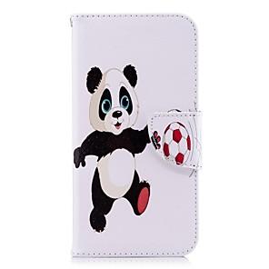 povoljno Muški satovi-Θήκη Za Apple iPhone X / iPhone 8 Plus / iPhone 8 Novčanik / Utor za kartice / sa stalkom Korice Panda Tvrdo PU koža