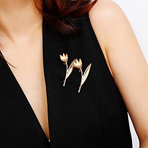 povoljno Broševi-Žene Broševi Sa stilom Cvijet dame slatko Moda Elegantno Broš Jewelry Zlato Srebro Za Dar Festival