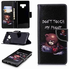 Недорогие Чехлы и кейсы для Galaxy Note 4-Кейс для Назначение SSamsung Galaxy Note 5 / Note 4 / Note 3 Кошелек / Бумажник для карт / со стендом Чехол Слова / выражения Твердый Кожа PU