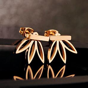 ieftine Cercei-Pentru femei Cercei Stud Cercei Față & Spate Floare femei De Bază European cercei Bijuterii Auriu / Argintiu Pentru Petrecere Zi de Naștere Zilnic Casual