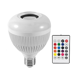 baratos Colares-KWB 1pç 12 W Lâmpada de LED Inteligente 1200 lm E26 / E27 G95 28 Contas LED SMD Bluetooth Smart Regulável RGBW 100-240 V / RoHs