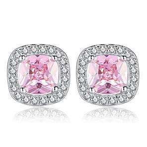 ieftine Cercei-Pentru femei Cercei Stud Stl femei Dulce Modă Diamante Artificiale cercei Bijuterii Alb / Roz Pentru Zilnic Dată 1 Pair