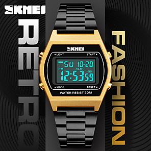 ieftine ceasuri digitale pentru femei-SKMEI Pentru femei Pentru cupluri Ceas Elegant Ceas de Mână Piața de ceas Japoneză Piloane de Menținut Carnea Oțel inoxidabil Negru / Argint / Auriu 30 m Rezistent la Apă Mare Dial Piloane de