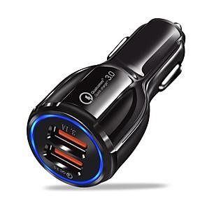 ieftine Ustensile & Gadget-uri de Copt-Încărcător de Mașină Încărcător USB USB Multi-Ieșiri / QC 3.0 2 Porturi USB 2.4 A DC 12V-24V pentru